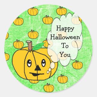 Halloween heureux à vous autocollants mignons de