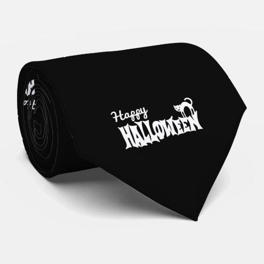Halloween heureux noir et blanc cravate