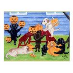Halloween Labradors ! Carte Postale