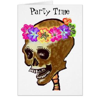 Halloween ou jour des invitations mortes de crâne