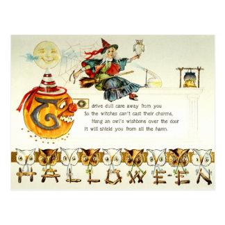 Halloween vintage carte postale