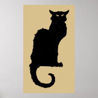 Halloween vintage, chat noir de Nouveau d'art