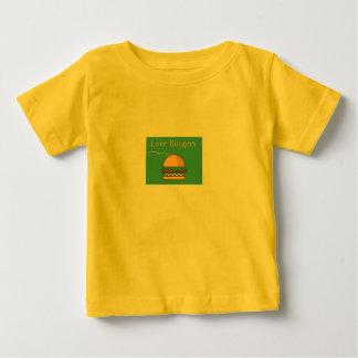 Hamburger d'amours t-shirt pour bébé