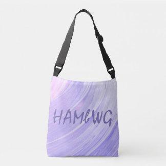 HAMbWG - sac fourre-tout - remous rose violet avec
