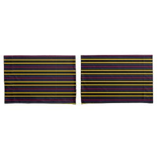 HAMbyWG - 2 taies d'oreiller de S - noir/rayure de