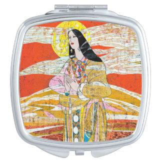 """Hao pingelt """"Pray"""" het bidden oosters dame Make-up Spiegels"""