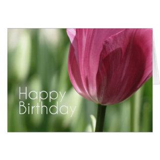 Happy birthday - flower carte de vœux