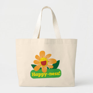 Happyness sous forme de jolie fleur ! grand sac