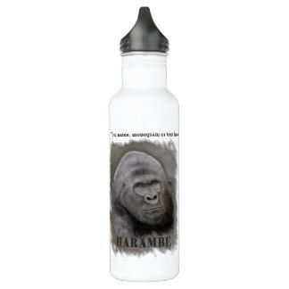 Harambe (dessin de graphite) bouteille d'eau