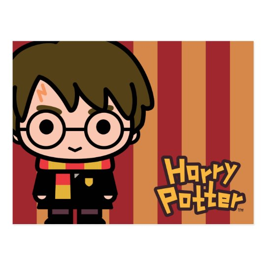 New Harry Potter Cartoon Character Art Briefkaart | Zazzle.be @GK32