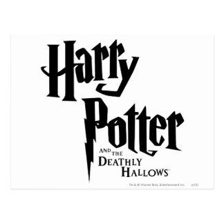 Harry Potter et le de mort sanctifie le logo 2 Cartes Postales