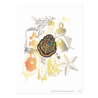 Harry Potter | Kleurrijk CREST Hogwarts Briefkaart