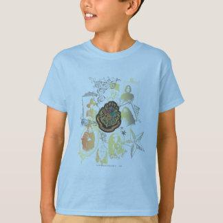 Harry Potter   Kleurrijk CREST Hogwarts T Shirt