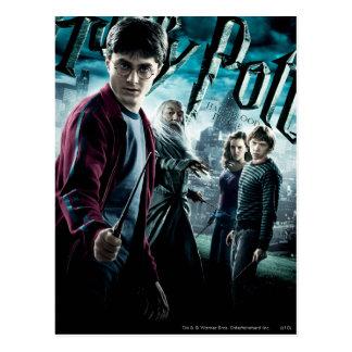 Harry Potter met Dumbledore Ron en Hermione 1 Briefkaart