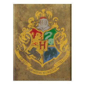 Harry Potter | Rustiek CREST Hogwarts Briefkaart