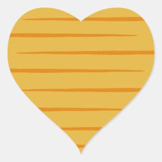 Hart-gevormde Oranje gestreepte katGestreepte Hart Stickers