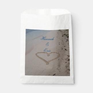Hart in het Huwelijk van het Strand van het Zand Bedankzakje