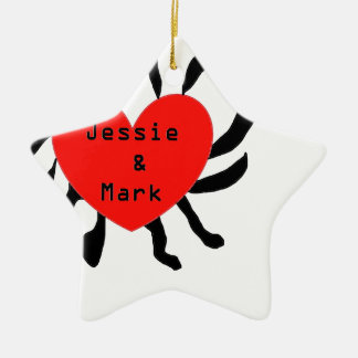HART JESSIE AND MARK.png Keramisch Ster Ornament