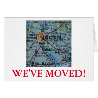 Hartford nous avons déplacé le faire-part