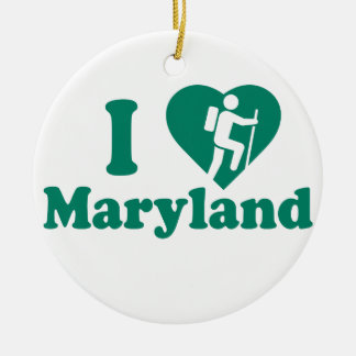 Hausse le Maryland Ornement Rond En Céramique