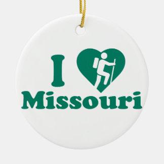 Hausse Missouri Ornement Rond En Céramique