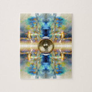 Haut-parleur de musique de kaléidoscope d'or puzzle