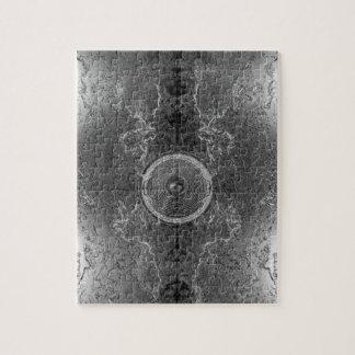 Haut-parleur noir et blanc de musique de puzzle