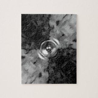 Haut-parleur noir et blanc de musique puzzle