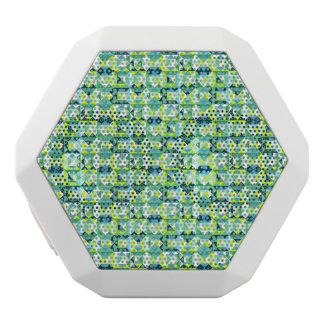Haut-parleur turquoise géométrique de Bluetooth