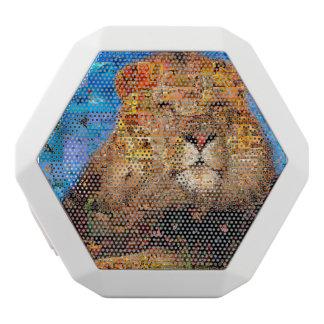 Haut-parleurs Blancs Sans-fils lion - collage de lion - mosaïque de lion - lion
