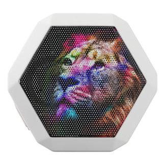 Haut-parleurs Blancs Sans-fils Lion de l'espace - lion coloré - art de lion -