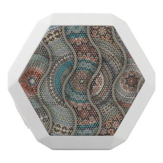 Haut-parleurs Blancs Sans-fils Motif floral ethnique abstrait coloré de mandala