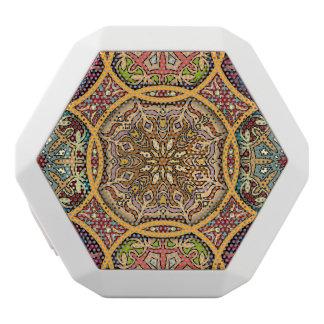 Haut-parleurs Blancs Sans-fils Patchwork vintage avec les éléments floraux de