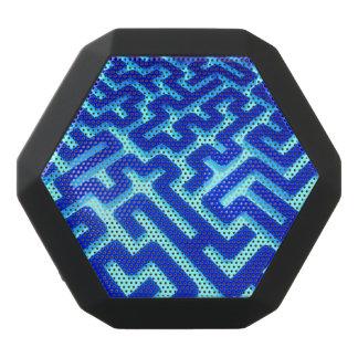 Haut-parleurs Noirs Sans-fils Bleu de labyrinthe