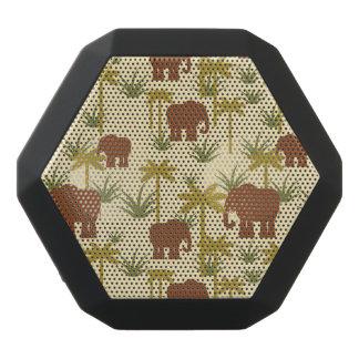 Haut-parleurs Noirs Sans-fils Éléphants et paumes dans le camouflage