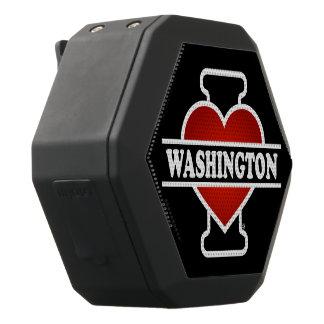 Haut-parleurs Noirs Sans-fils I coeur Washington