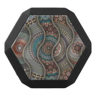 Haut-parleurs Noirs Sans-fils Motif floral ethnique abstrait coloré de mandala