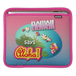 Hawaï zegt Aloha! Beschermhoes Voor iPad