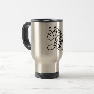 Hé tasse de café du sud décontractée de salutation