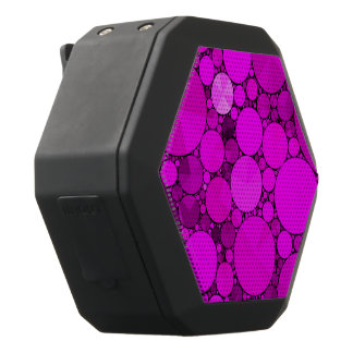Heet Roze Patroon Bling Zwarte Bluetooth Speaker
