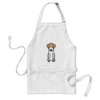 Hefboom Russell Terrier Dog Cartoon Standaard Schort