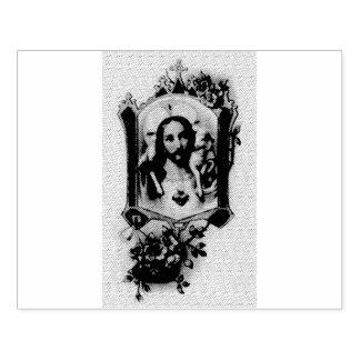 Heilig Hart van Jesus met lam Rubberstempel