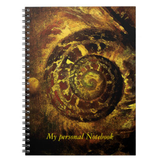 Heilige meetkunde gouden verhouding slakshell ringband notitieboek