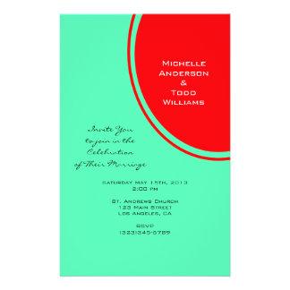 Helder Oranje Groen Modern Huwelijk Persoonlijke Folder