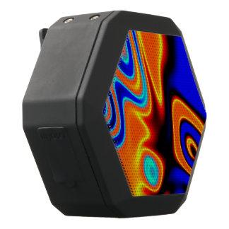 Heldere Blauwe Oranjegele Samenvatting Zwarte Bluetooth Speaker