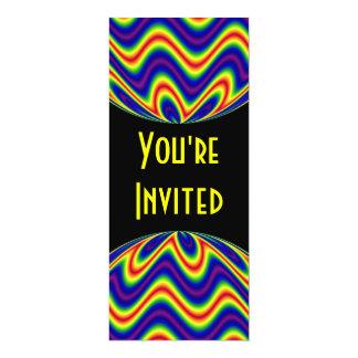 heldere kleuren 10,2x23,5 uitnodiging kaart