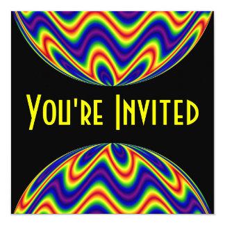 heldere kleuren 13,3x13,3 vierkante uitnodiging kaart