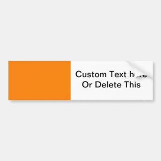 heldere oranje DIY douanesjabloon als achtergrond Bumpersticker