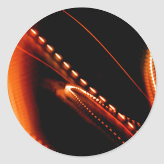 Heldere Oranje Pret Ronde Stickers