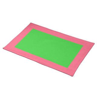 Heldere Roze en Limoen Groene Placemat